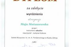 Maja-Matuszewska-wyróżnienie